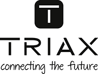 TRIAX logo statement black small