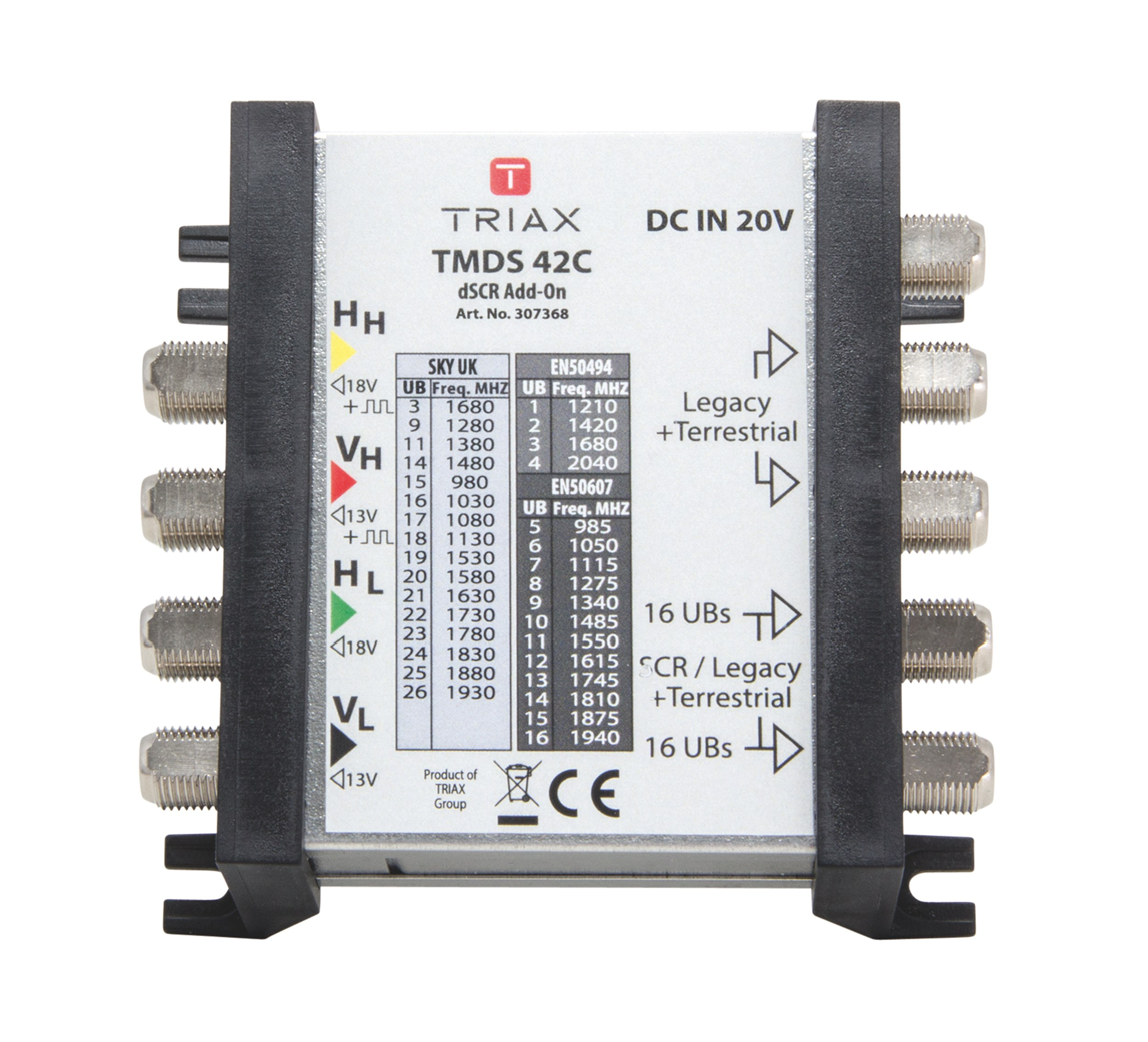 Triax Multiswitches Multiswitch Light Wiring Diagram Tmds 42 C Dscr