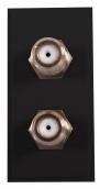 Twin F type Module 25x50 Black